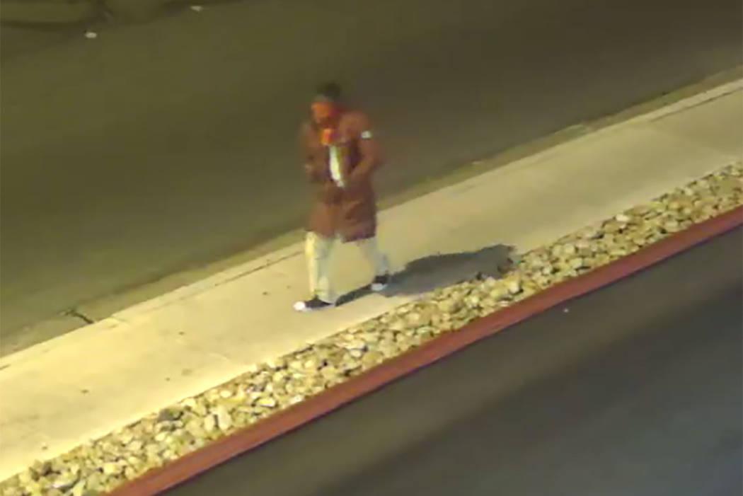 A shooting suspect is seen near the Las Vegas Lounge at 900 E. Karen Avenue (Las Vegas Metropolitan Police Department)