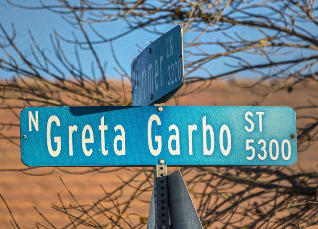 Greta Garbo Street and Hammer Lane on Wednesday, Dec. 20, 2017, in North Las Vegas. Benjamin Hager Las Vegas Review-Journal @benjaminhphoto