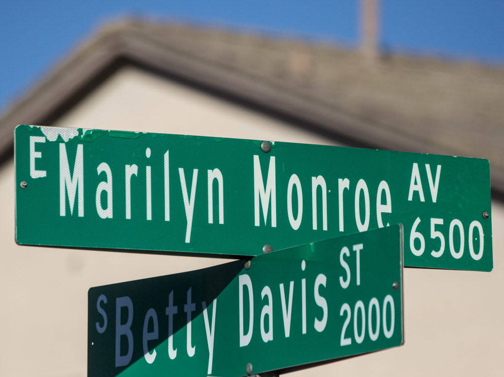 Marilyn Monroe Avenue on Wednesday, Dec. 20, 2017, in Las Vegas. Benjamin Hager Las Vegas Review-Journal @benjaminhphoto