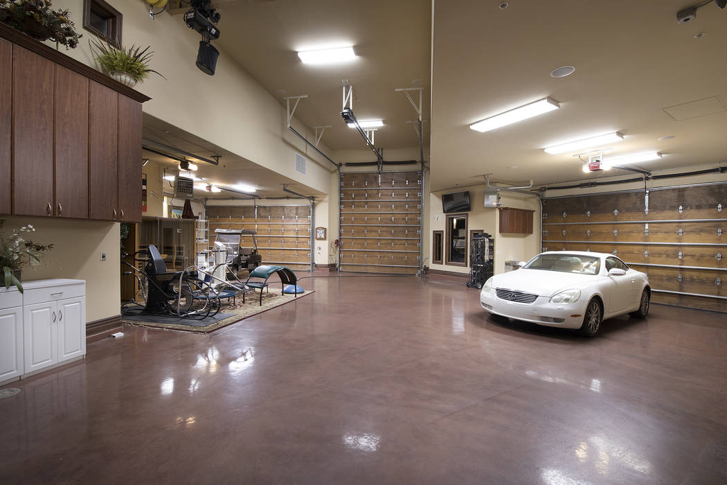 The house features a 10-car garage with workshop. (Synergy/Sotheby's International Realty)