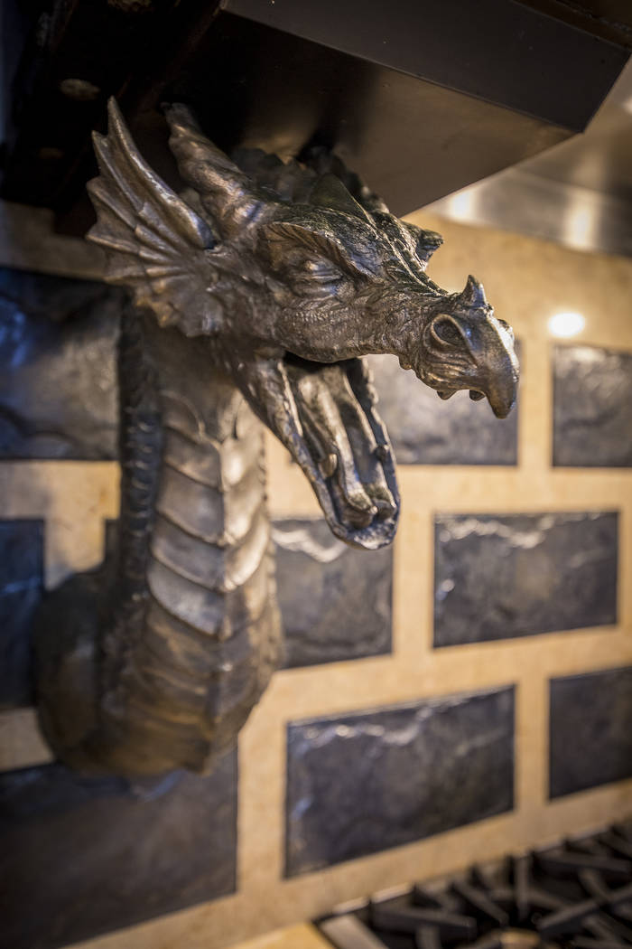 The dragons in the kitchen were custom made and a nod to the DragonRidge Golf Course. (Synergy/Sotheby's International Realty)