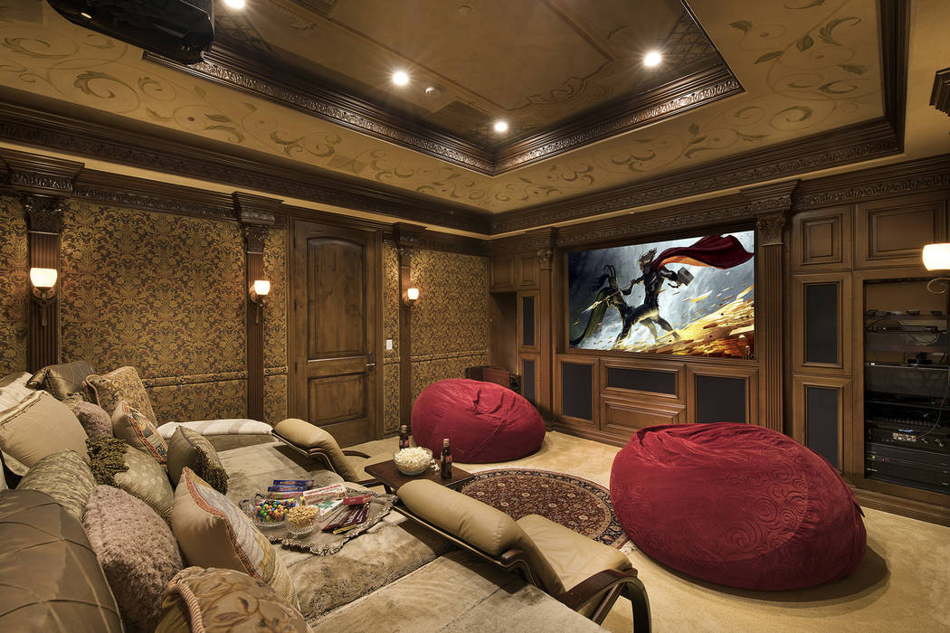 The roomy theater is built for comfort. (Synergy/Sotheby's International Realty)