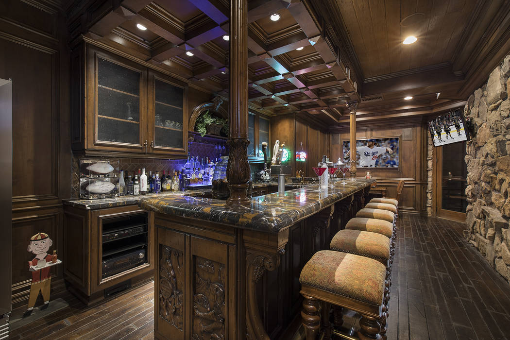 One of the most interesting features of the home is the British pub in the basement. (Synergy/Sotheby's International Realty)