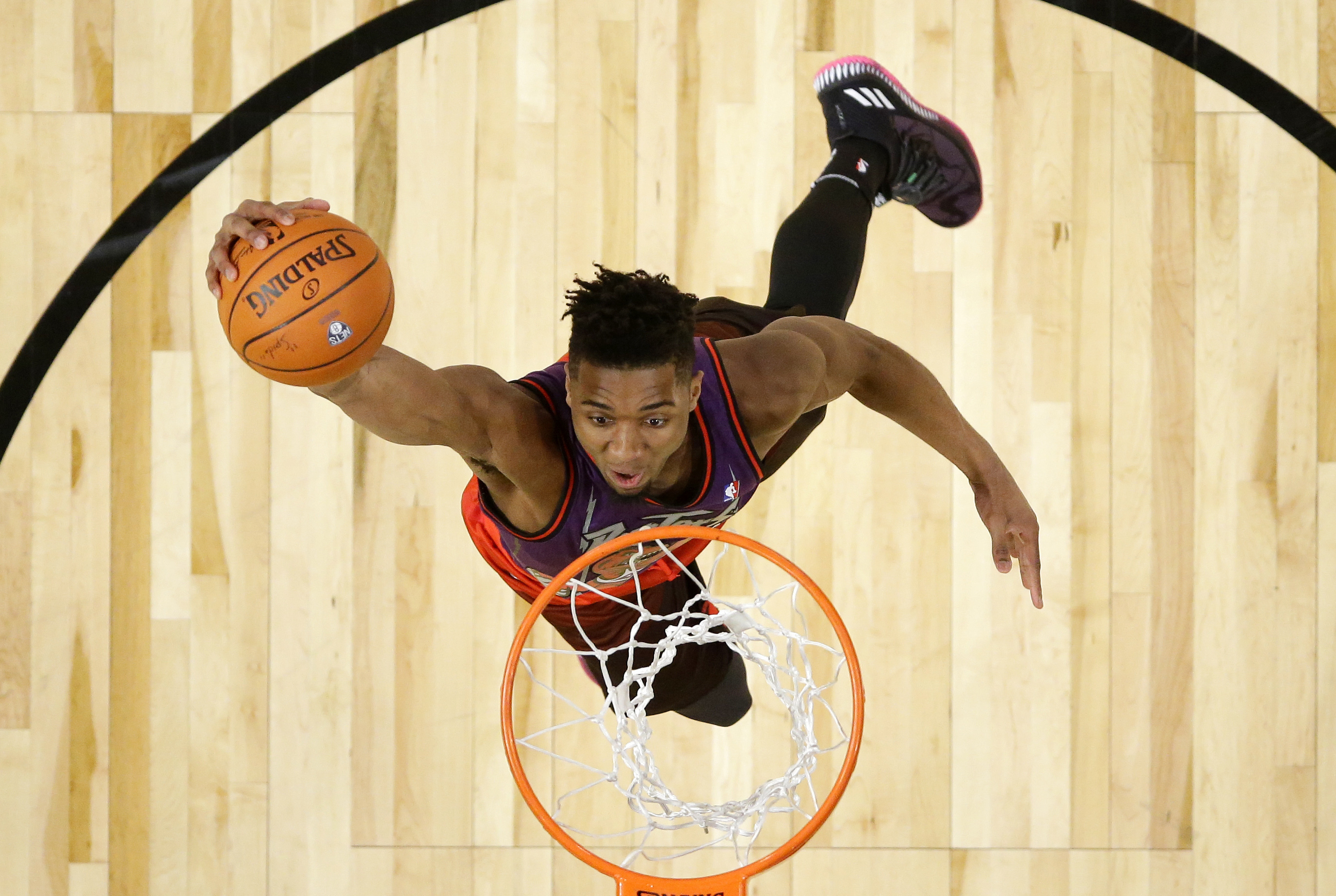 Rookie Mitchell Wins Dunk Title Booker Sets 3 Point