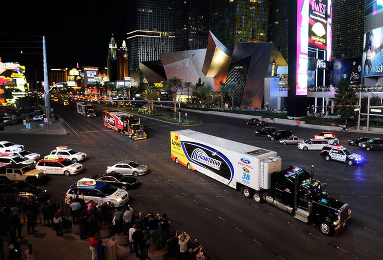 Nascar Hauler Parade Returns To Las Vegas Las Vegas