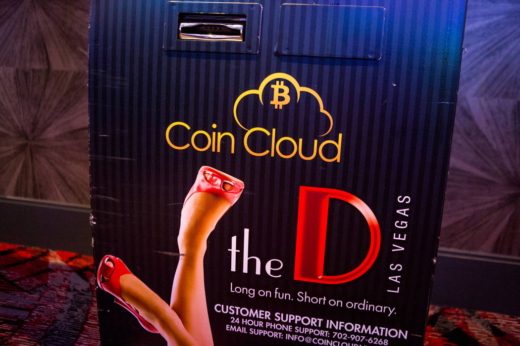 A Bitcoin ATM in the D Las Vegas on Thursday, Feb. 15, 2018. The hotel-casino is now accepting Bitcoin at some of its restaurants, gift shop and hotel desk.  Patrick Connolly Las Vegas Review-Jour ...