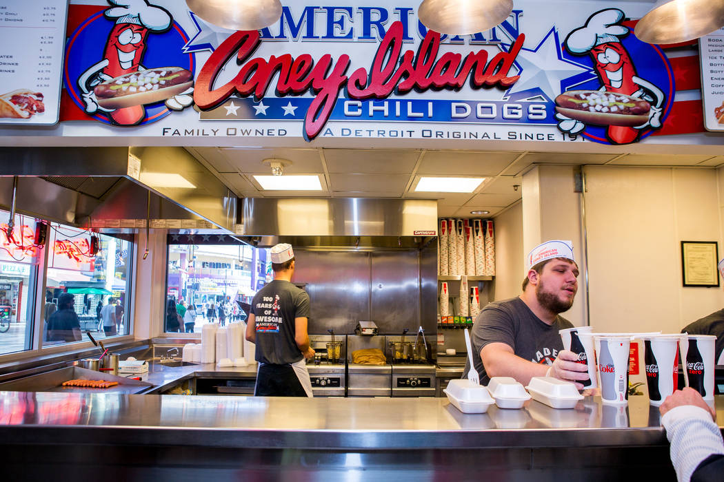 The American Coney Island restaurant at D Las Vegas on Thursday, Feb. 15, 2018. The hotel-casino is now accepting Bitcoin at some of its restaurants, gift shop and hotel desk.  Patrick Connolly La ...