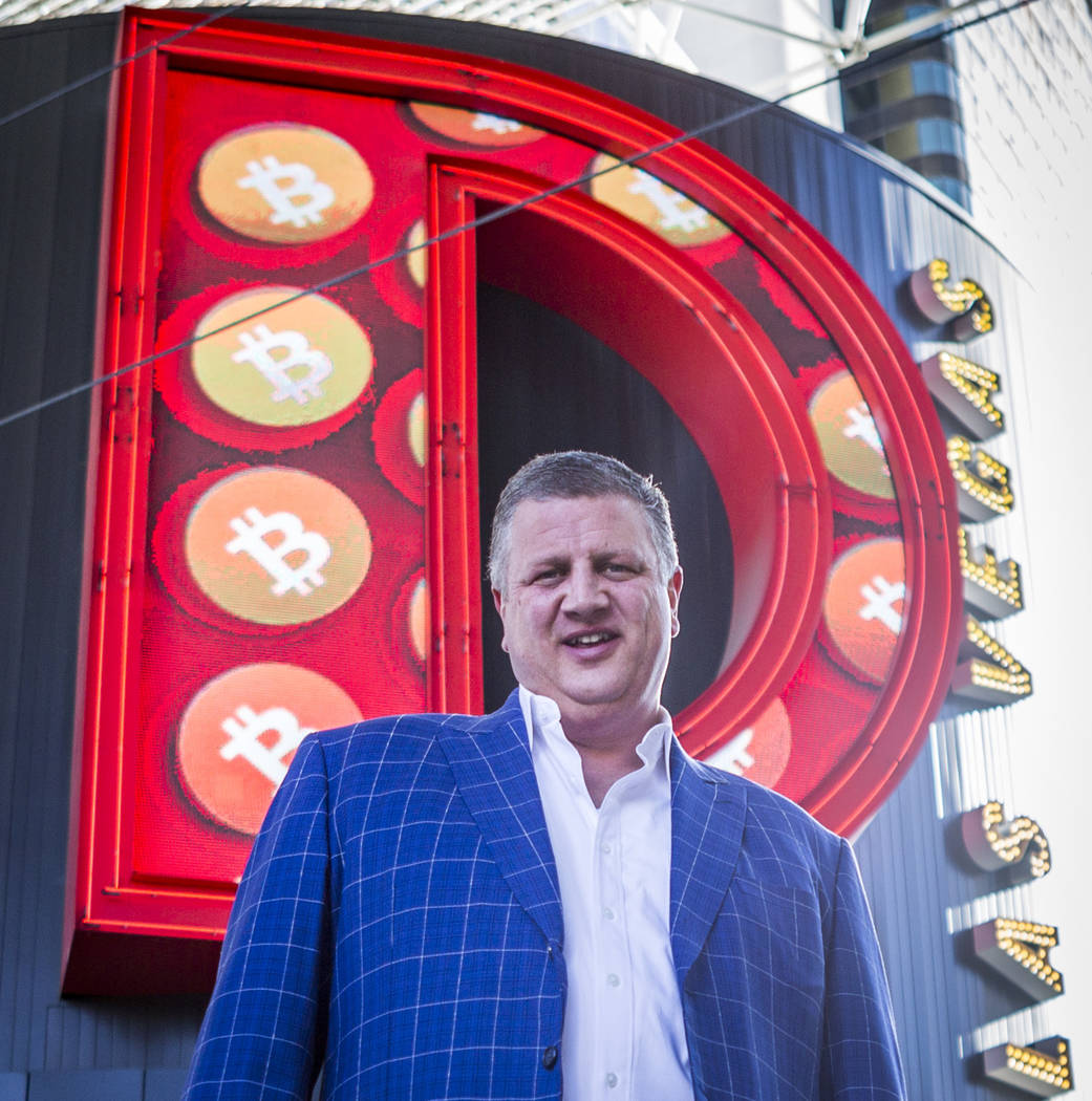 Derek Stevens, CEO and owner of the D Las Vegas, on Thursday, Feb. 15, 2018. The hotel-casino is now accepting Bitcoin at some of its restaurants, gift shop and hotel desk.  Patrick Connolly Las V ...