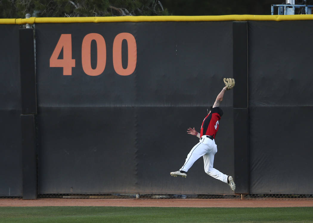 UNLV junior Kyle Isbel, shown last season, hit an RBI triple Monday in the Rebels' 3-1 victory over Utah at Wilson Stadium. (Chase Stevens Las Vegas Review-Journal @csstevensphoto)