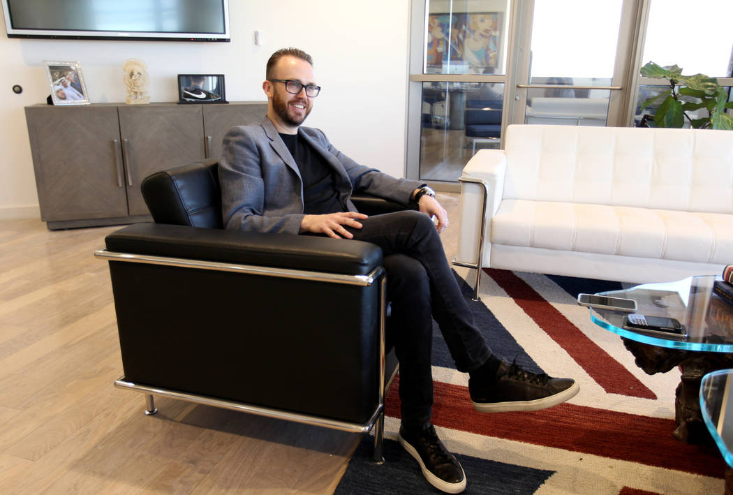 Nick McCabe, CEO of Hakkasan Group, talks to a reporter in his Las Vegas office Thursday, Feb. 15, 2018. K.M. Cannon Las Vegas Review-Journal @KMCannonPhoto