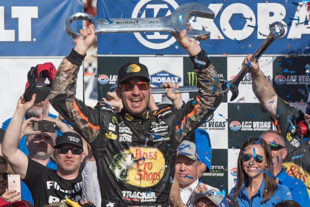 The Kobalt 400 at Las Vegas Motor Speedway on Sunday, March 12, 2017. Martin Truex Jr. won the NASCAR race. (Tom Donoghue)