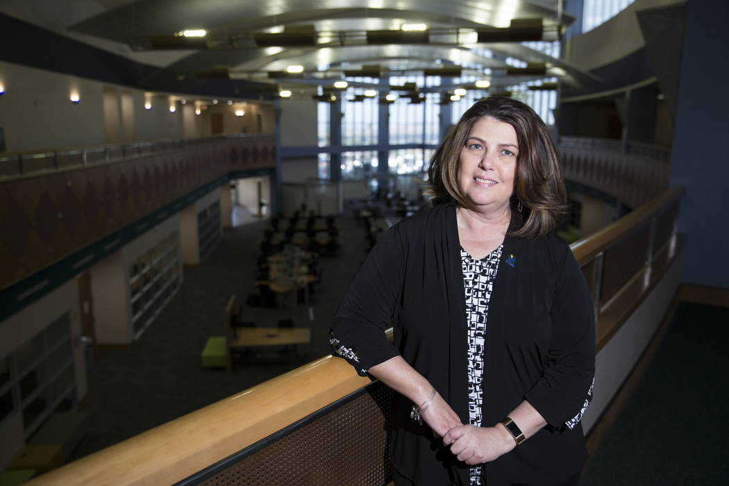 Patty Charlton, vice president and provost for the College of Southern Nevada in Henderson, at the CSN Henderson Campus on Thursday, Feb. 22, 2018. Erik Verduzco Las Vegas Review-Journal @Erik_Ver ...