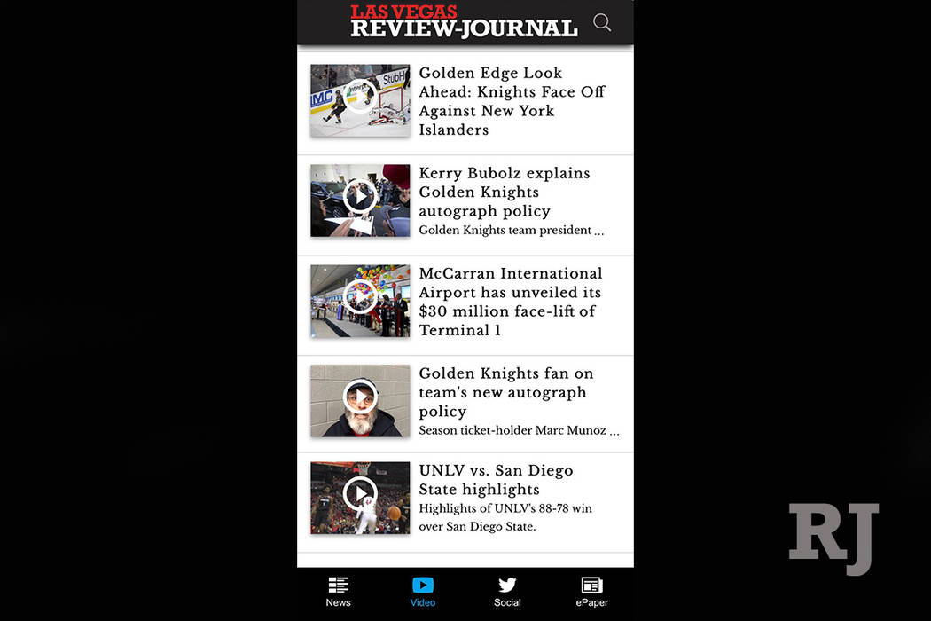 The video tab of the new RJ app.