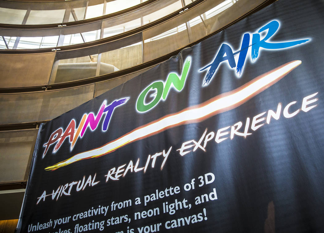 """Signage at Springs Preserve's new """"Paint on Air"""" virtual reality experience on Wednesday, February 21, 2018, in Las Vegas. Benjamin Hager Las Vegas Review-Journal @benjaminhphoto"""