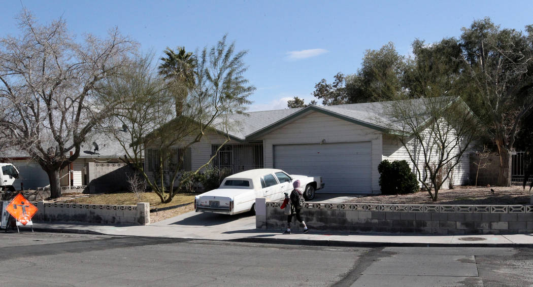 A home at 809 Palmhurst Drive in Las Vegas Thursday, Feb. 22, 2018. After owner Carole Barnish died last August, Shalena Earnheart claimed ownership, sparking a heated dispute. K.M. Cannon Las Veg ...