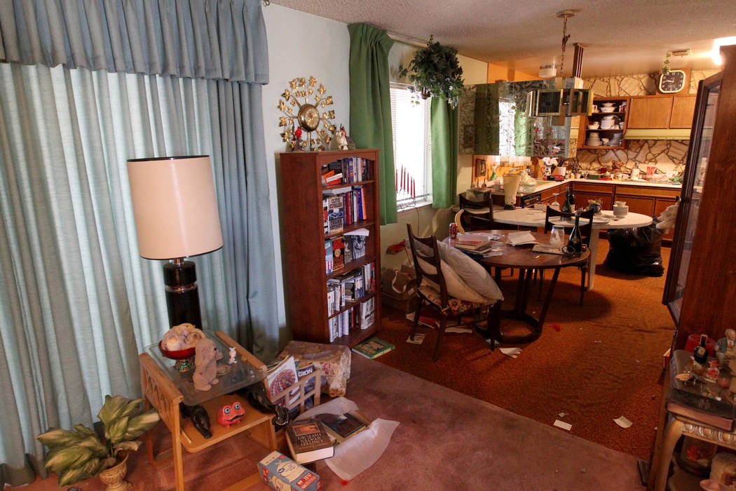 A room of home at 809 Palmhurst Drive in Las Vegas Thursday, Feb. 22, 2018. After home owner Carole Barnish died last August, Shalena Earnheart claimed ownership, sparking a dispute. A neighbor sa ...