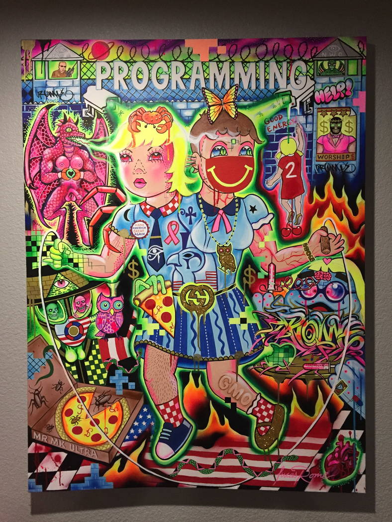 Artwork by Mr. MK Ultra, featured artist at March 2018 First Friday.