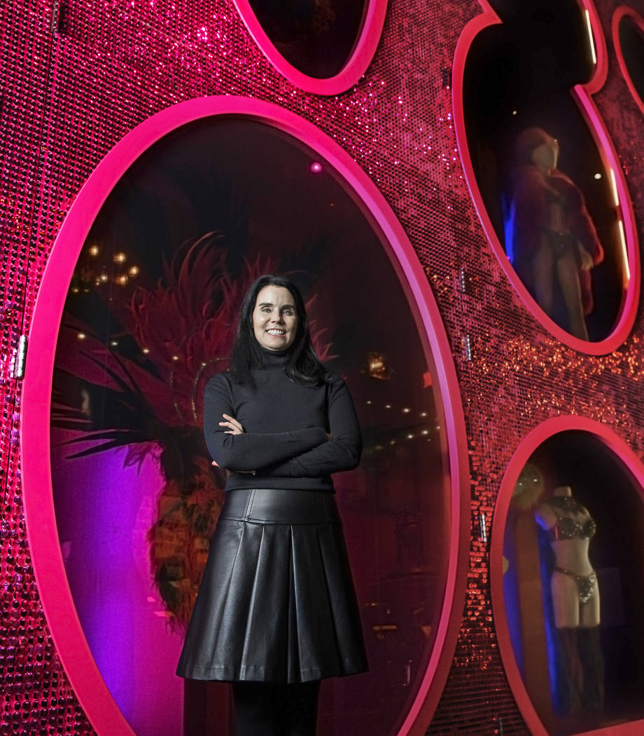 Karan Feder, guest curator of costume & textiles, on Thursday, February 22, 2018, at the Nevada State Museum, in Las Vegas. Benjamin Hager Las Vegas Review-Journal @benjaminhphoto
