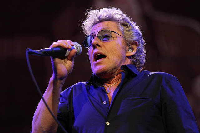 Roger Daltrey of The Who performs at the Colosseum in Caesars Palace on Sunday, May 29, 2016 in Las Vegas. (Brett Le Blanc/Las Vegas Review-Journal)  @bleblancphoto