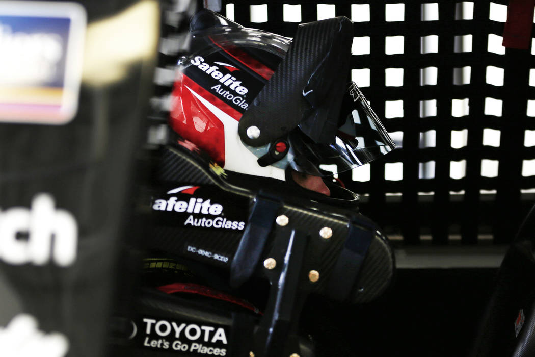 Noah Gragson (18) during practice ahead of the NASCAR Camping World Truck Series, slated for Friday, at the Las Vegas Motor Speedway in Las Vegas on Thursday, March 1, 2018. Andrea Cornejo Las Veg ...