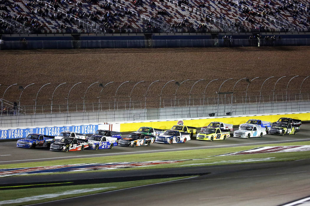 Ryan blaney rides wind to pennzoil 400 pole position las for Las vegas motor speedway nascar