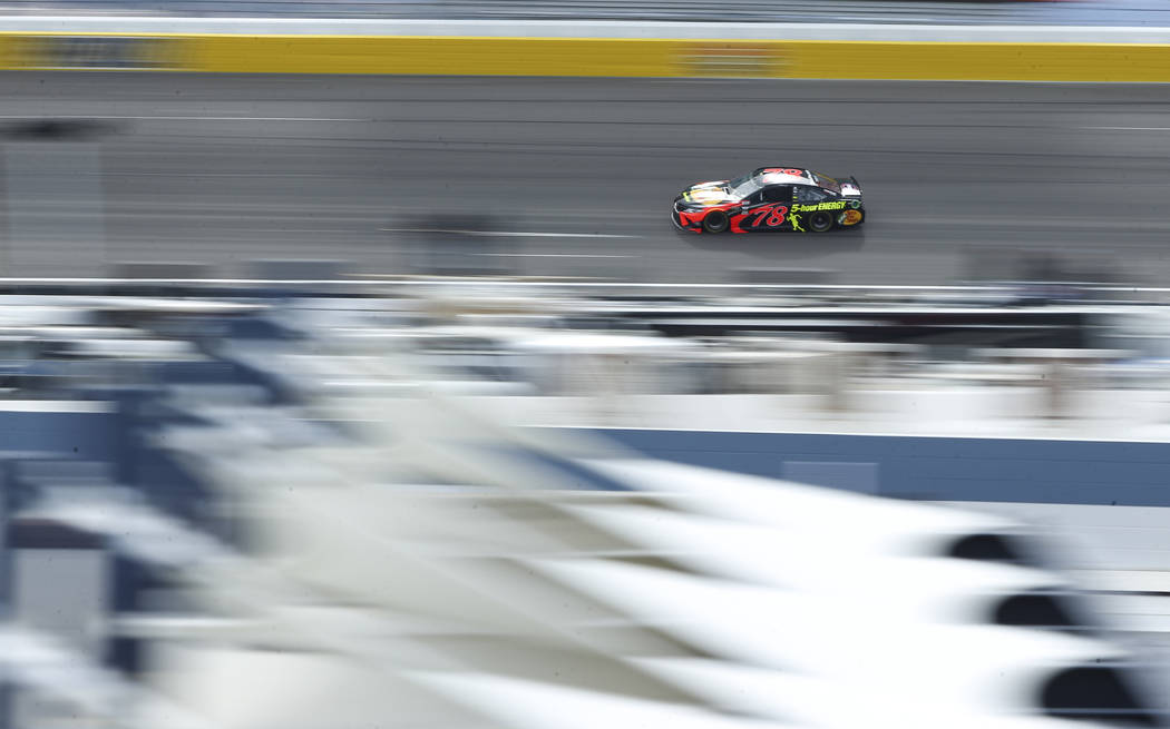 Monster Energy NASCAR Cup Series driver Martin Truex Jr. (78) during final practice at the Las Vegas Motor Speedway in Las Vegas on Saturday, March 3, 2018. Chase Stevens Las Vegas Review-Journal  ...