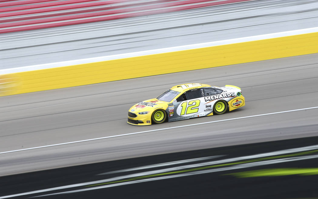 Monster Energy NASCAR Cup Series driver Ryan Blaney (12) during final practice at the Las Vegas Motor Speedway in Las Vegas on Saturday, March 3, 2018. Chase Stevens Las Vegas Review-Journal @csst ...