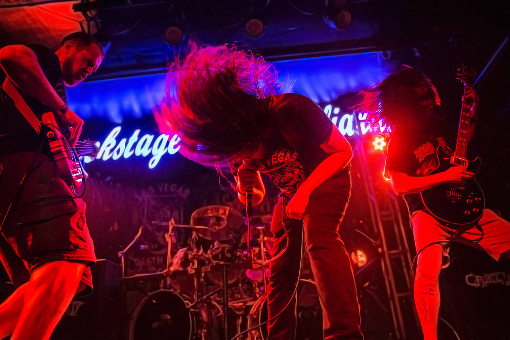 Cryptic Enslavement performs during Las Vegas Death Fest on Saturday, June 10, 2017, at Backstage Bar & Billiards, in Las Vegas. Benjamin Hager Las Vegas Review-Journal @benjaminhphoto