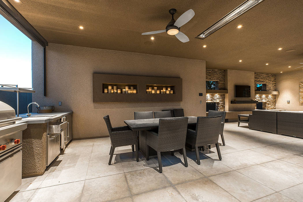 The outdoor kitchen. (Shapiro & Sher Group)