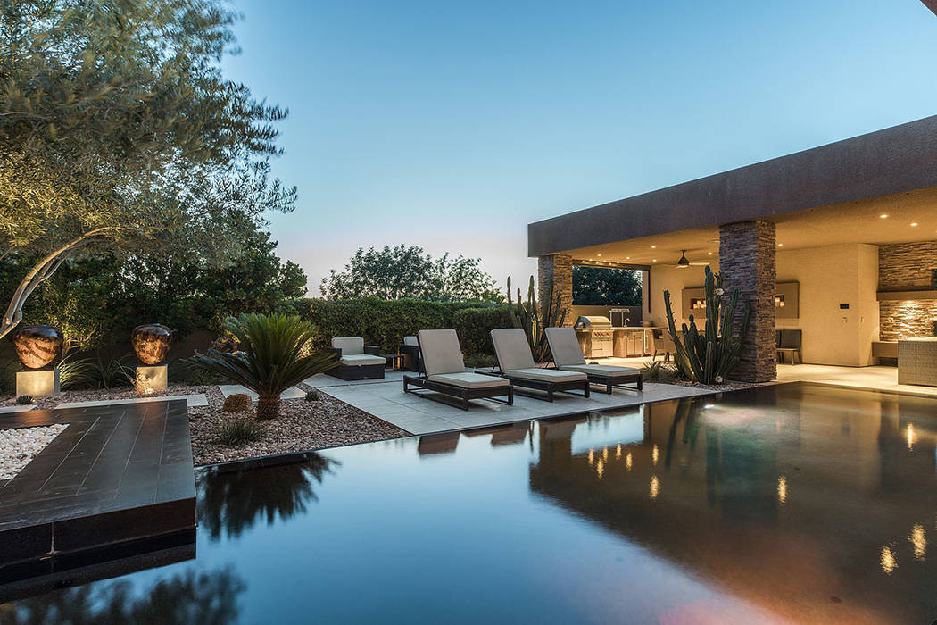 The pool area is large. (Shapiro & Sher Group)