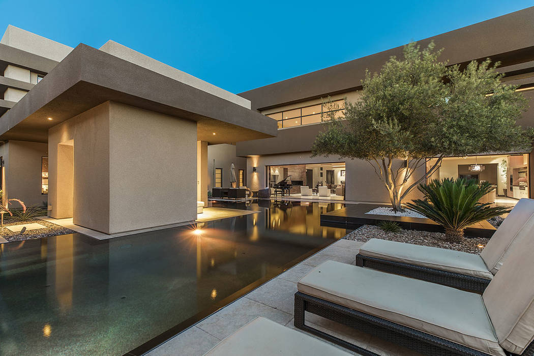 The pool runs through the backyard. (Shapiro & Sher Group)