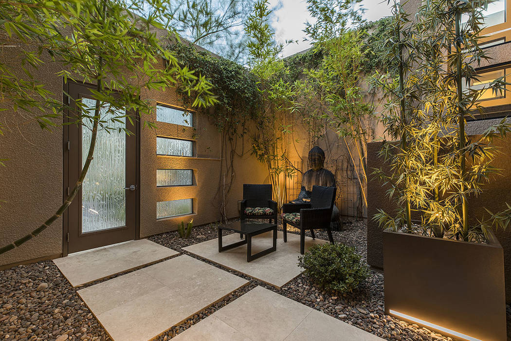 A Zen garden outside. (Shapiro & Sher Group)