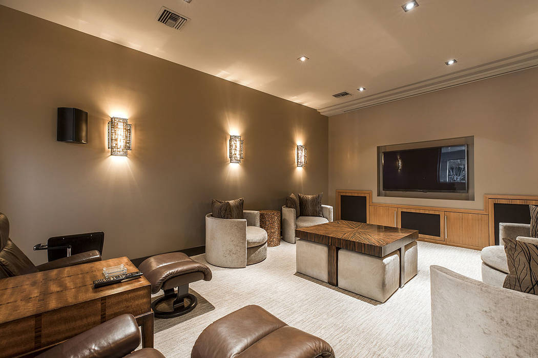 The home theater. (Shapiro & Sher Group)