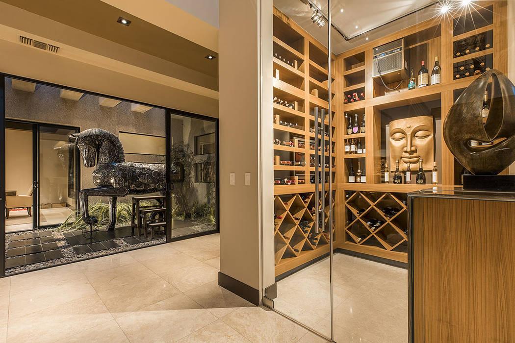 The wine room. (Shapiro & Sher Group)