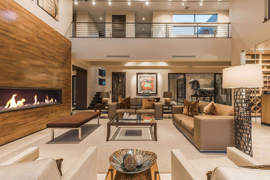 The two-story home has an Asian style.  (Shapiro & Sher Group)