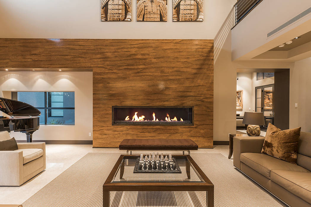 The home has vertical fireplace. (Shapiro & Sher Group)