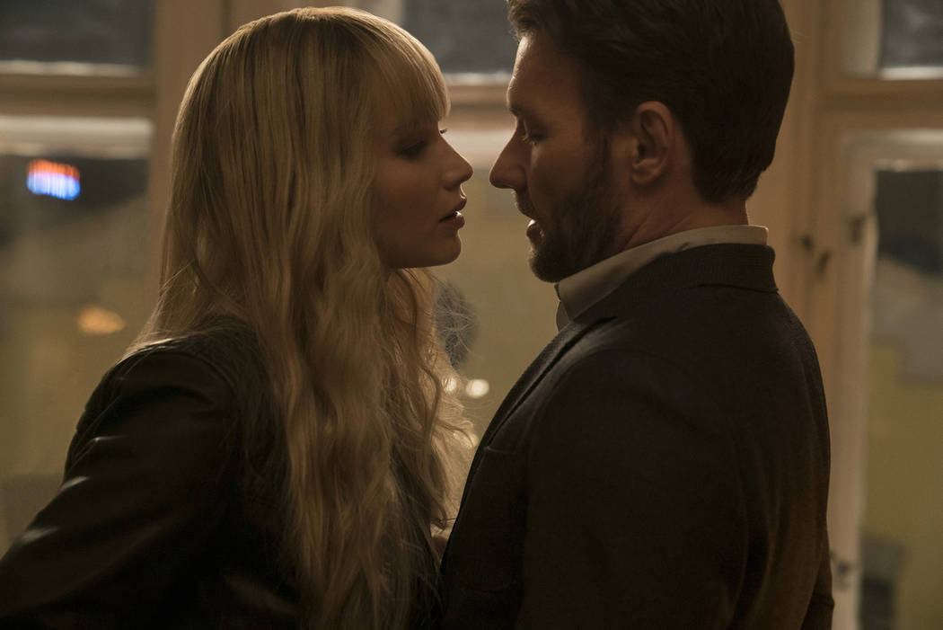 "Jennifer Lawrence and Joel Edgerton in Twentieth Century Fox's ""Red Sparrow."" Murray Close."