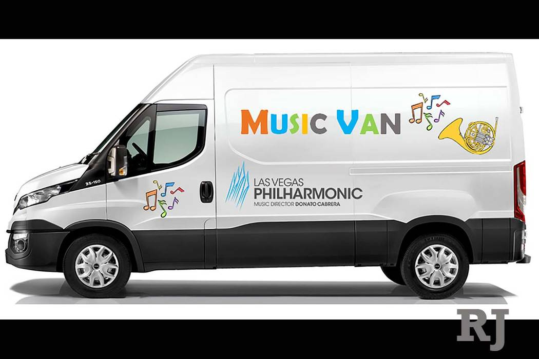 A mock-up of the Las Vegas Philharmonic's planned Music Van. (Las Vegas Philharmonic)
