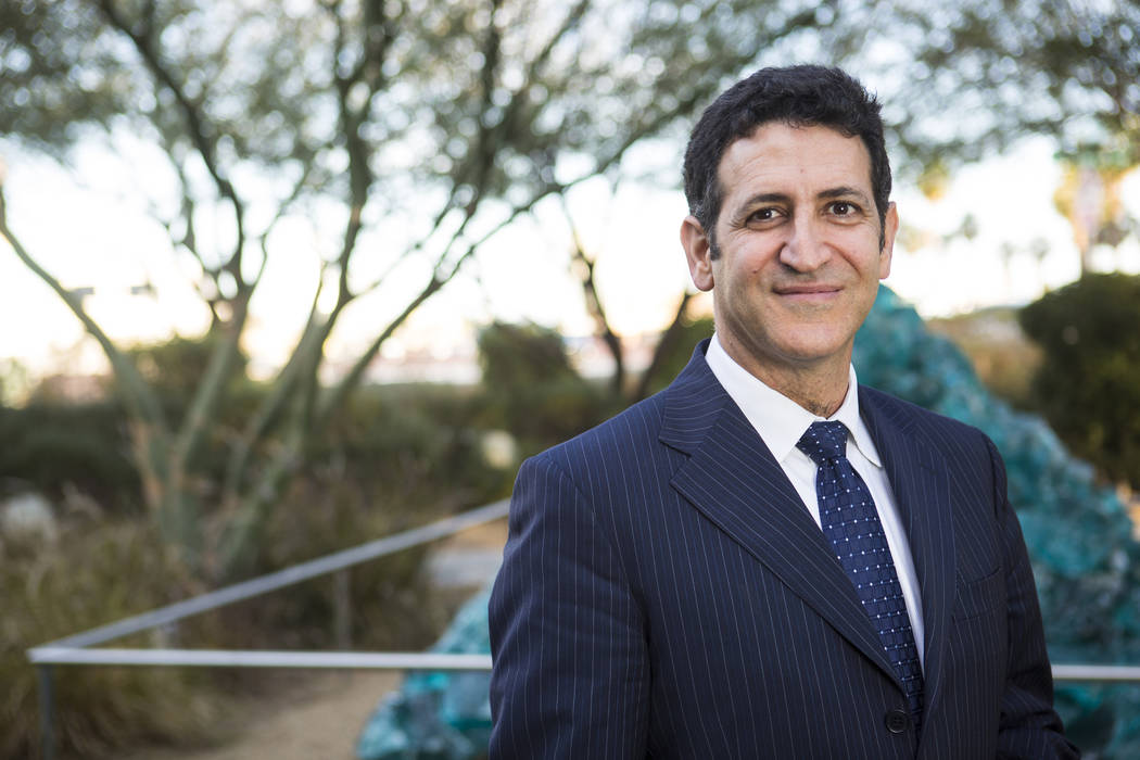 Dr. Marwan Sabbagh, who is taking over as the new director of the Cleveland Clinic Lou Ruvo Center for Brain Health, poses for a photo in Las Vegas on Wednesday, Feb. 28, 2018. Chase Stevens Las V ...