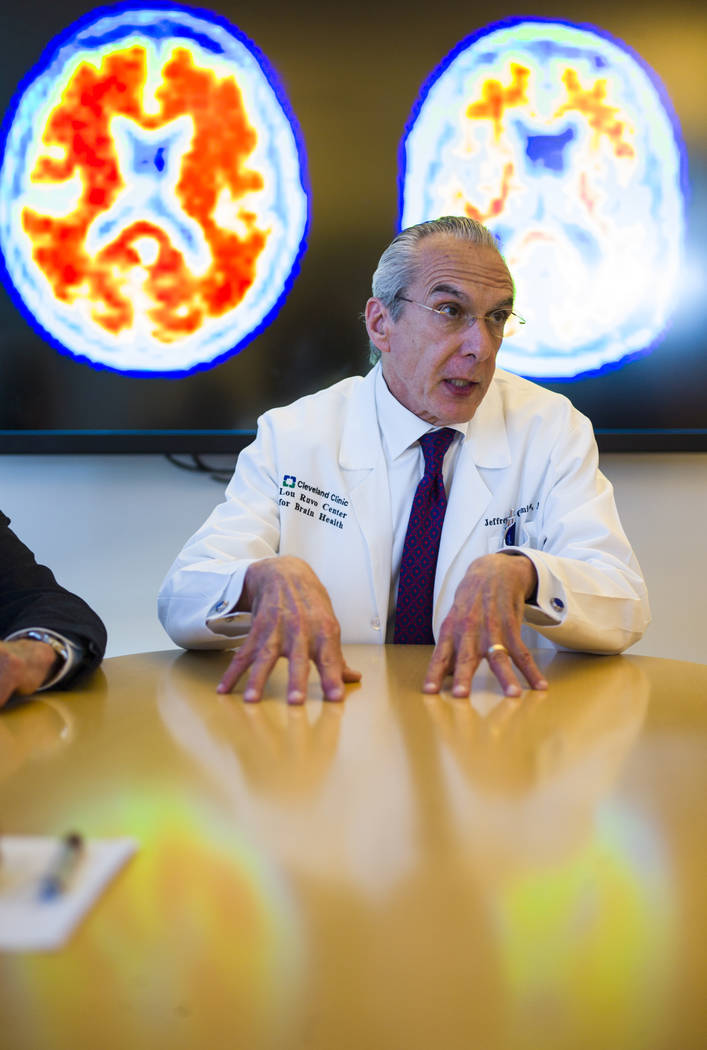 Dr. Jeffrey Cummings, outgoing director of the Cleveland Clinic Lou Ruvo Center for Brain Health, in Las Vegas on Wednesday, Feb. 28, 2018. Chase Stevens Las Vegas Review-Journal @csstevensphoto