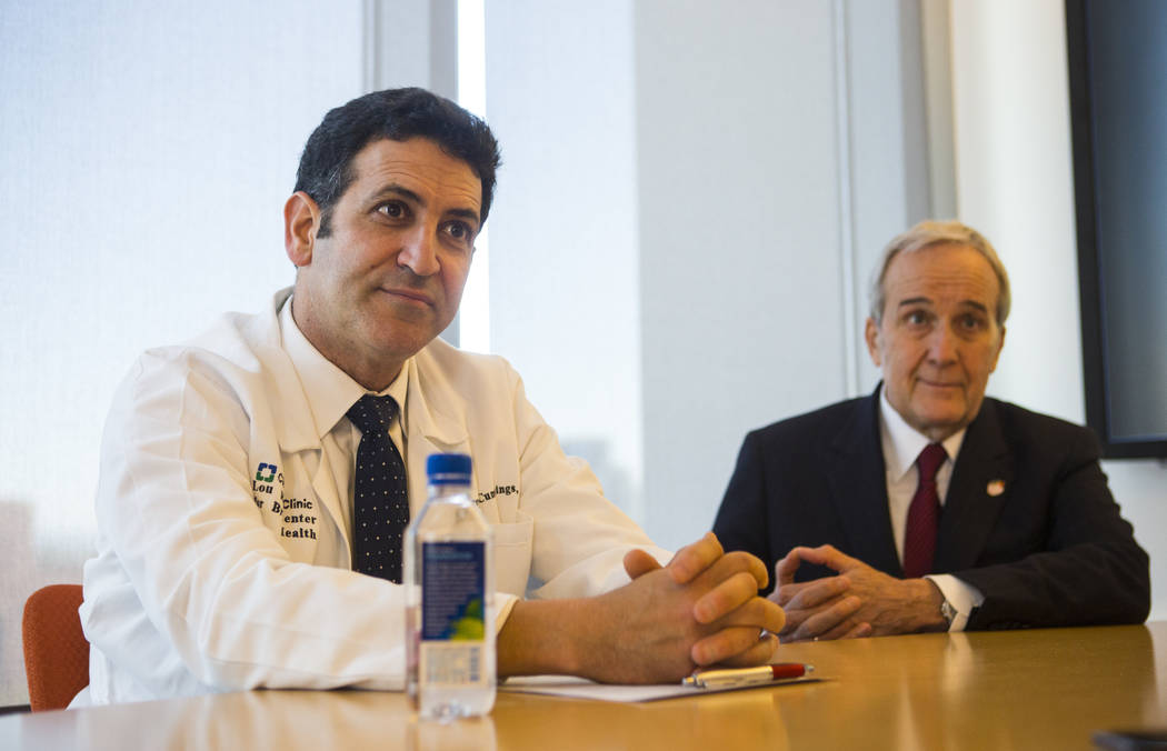 Dr. Marwan Sabbagh, who is taking over as the new director of the Cleveland Clinic Lou Ruvo Center for Brain Health, in Las Vegas on Wednesday, Feb. 28, 2018. Larry Ruvo, founder of the research f ...