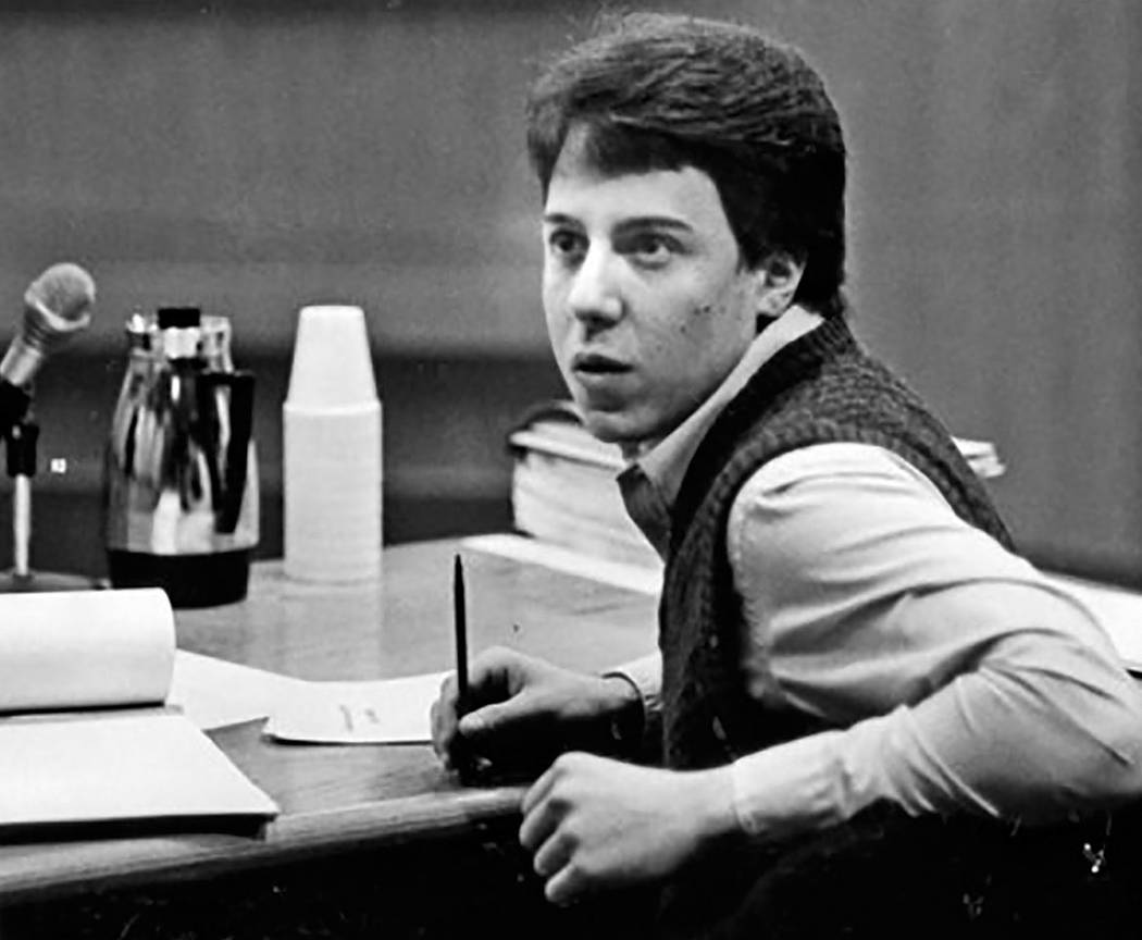 Scott Sloan is seen in 1985 in District Court. Sloane was convicted of raping and killing Nancy Menke. He was 16 years old at the time of the crime. (Las Vegas Review-Journal)