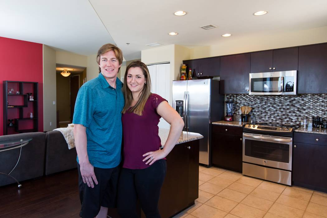 The Merchaks purchased their two-bedroom residence at One Las Vegas in 2016 and said they enjoy their spacious home with partial Strip views, as well as luxury amenities. (Mona Shield Payne One La ...