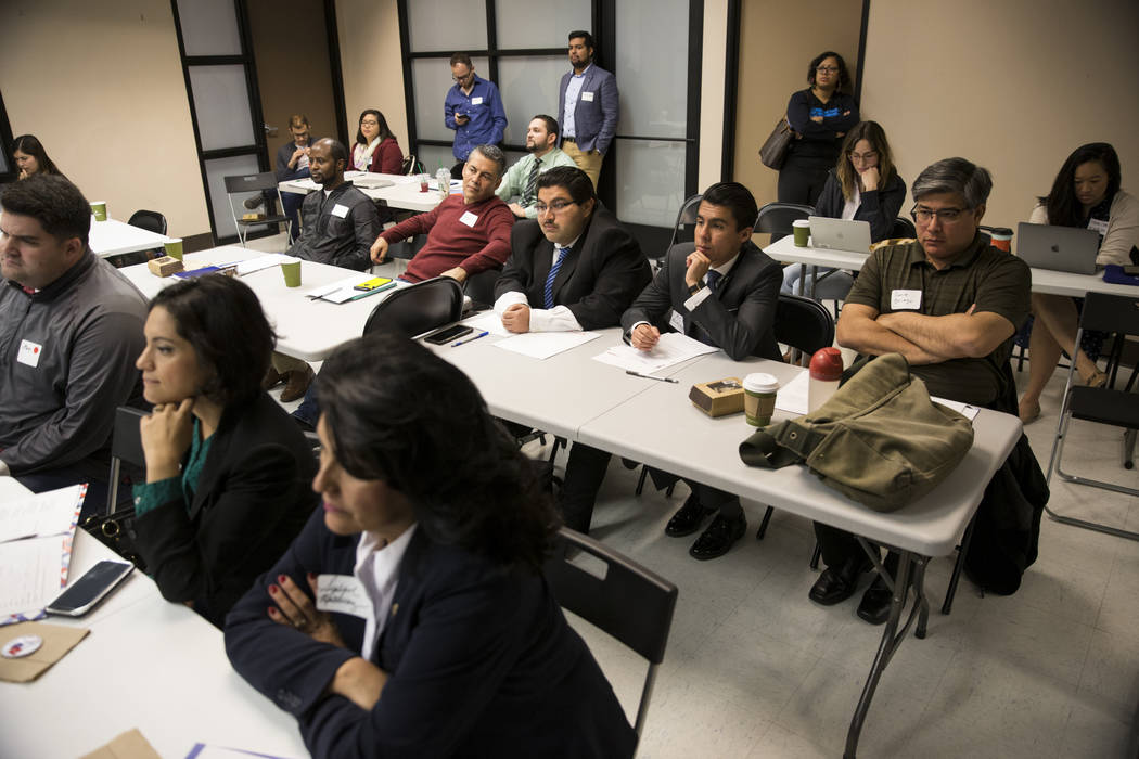 People attend the American Dream Project, an immigrant candidate training seminar, at the Asian Community Development Council headquarters in Las Vegas, Saturday, March 3, 2018. Erik Verduzco Las  ...
