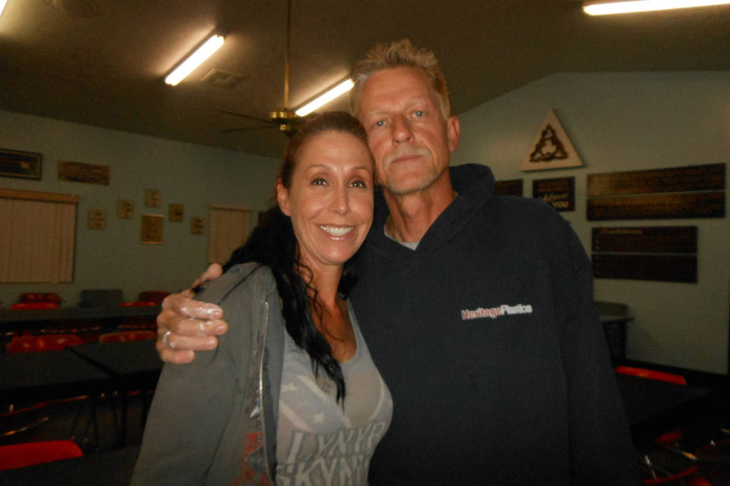 Denise McClellan and her husband Roy McClellan pose for a photo. Roy McClellan committed suicide on Nov. 17, 2017, in Pahrump nearly two months after surviving the Las Vegas mass shooting. (Denise ...