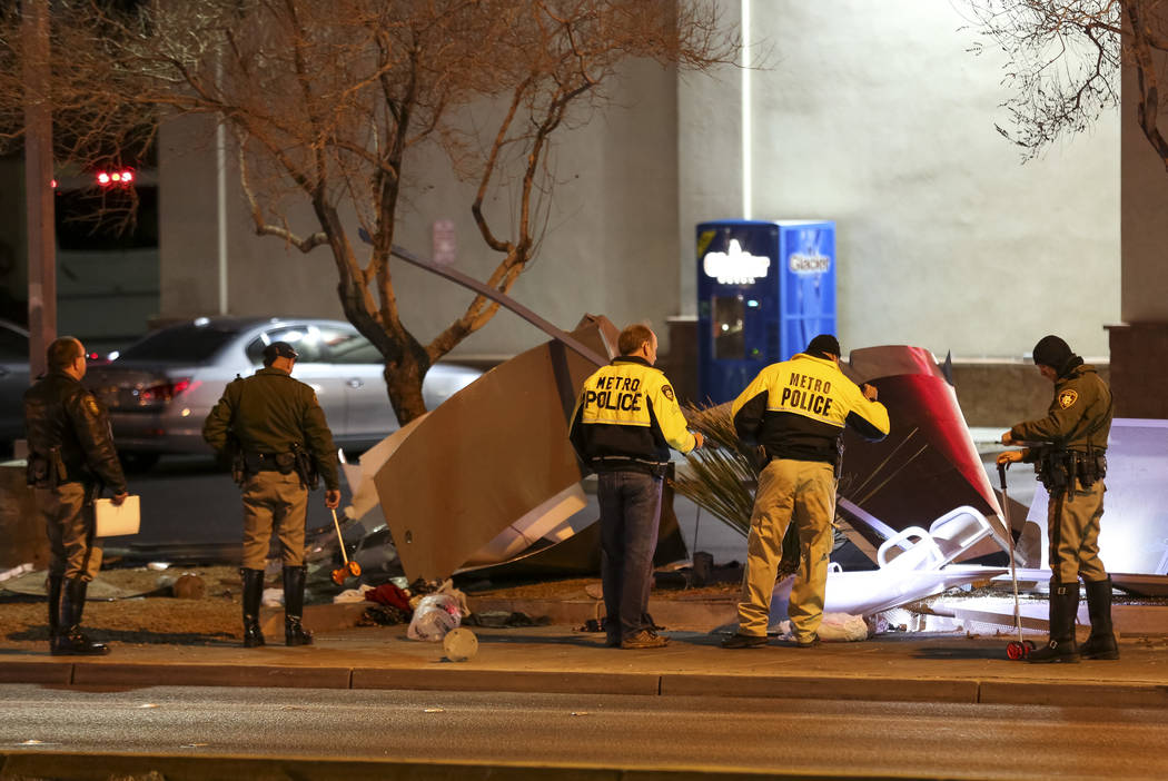 Las Vegas Police are investigating after a tour bus carrying no passengers crashed into a bus stop killing a woman near the intersection of S. Eastern Ave. and E. Desert Inn Road in east Las Vegas ...