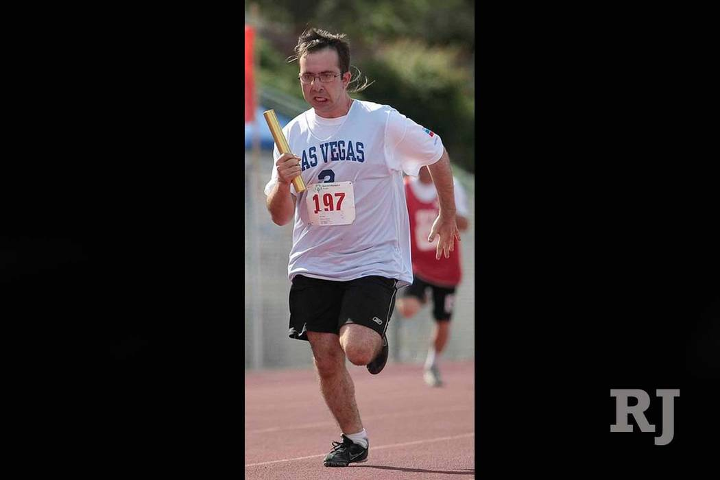 Matthew Migliore participates on the 2017 Special Olympics Nevada track and field team. (Courtesy Facebook)