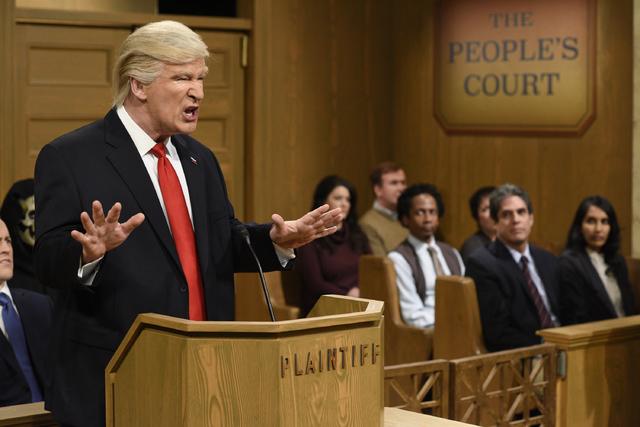 "Alec Baldwin as President Donald Trump on ""Saturday Night Live."" (NBC)"