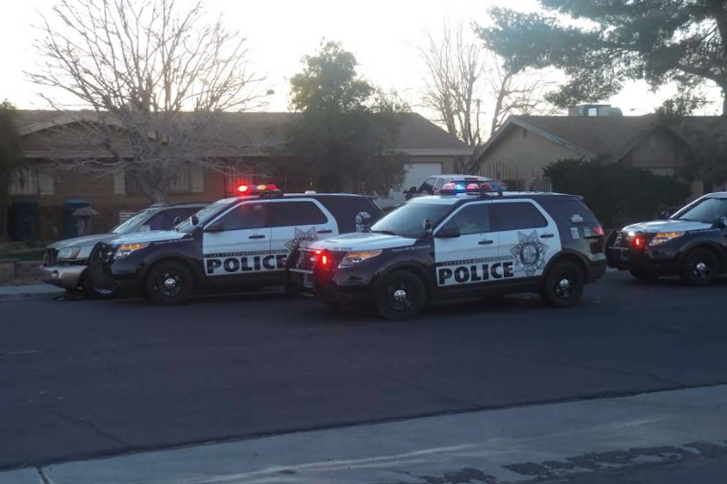 Las Vegas police are investigating a Friday morning stabbing in the northeast valley that left one person hospitalized. (Max Michor/Las Vegas Review-Journal)