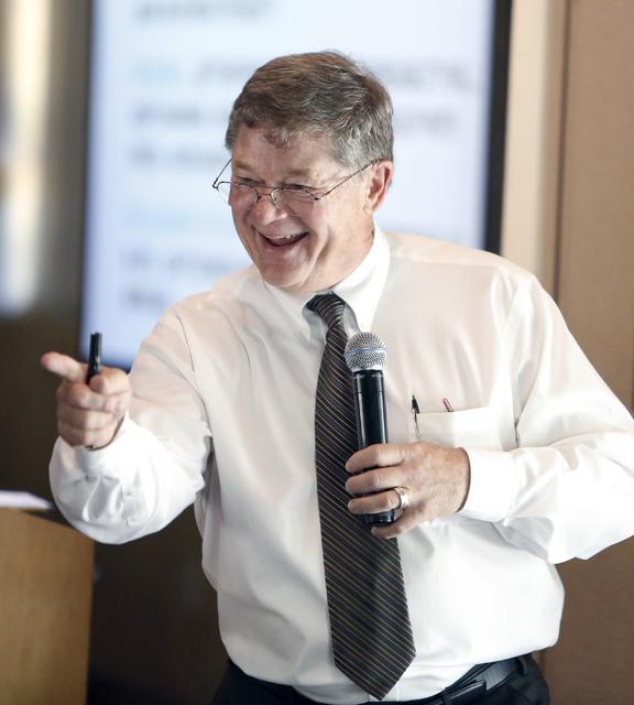Dennis Smith, president of Home Builders Research. (Bizuayehu Tesfaye RJRealEstate.Vegas.)